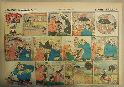 Donald Duck Sunday Page by Walt Disney from 12/8/1940 Half Page Size
