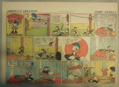 Donald Duck Sunday Page by Walt Disney from 8/18/1940 Half Page Size