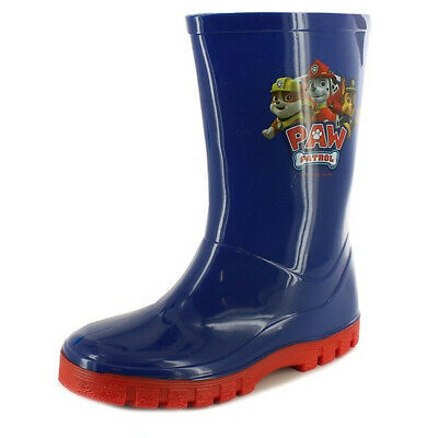 PAW PATROL WELLINGTON Boots Wellies Blue & Red Boys Rainy