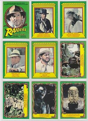 1981 O-Pee-Chee Indiana Jones Raiders Of The Lost Ark  88 card set