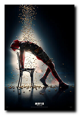 Deadpool 2 Official Movie Poster - Full Color Print - Ready To Frame