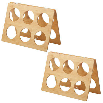 2PK Davis & Waddell Lattice Bamboo 6 Bottles Red/White Wine Rack/Holder/Storage