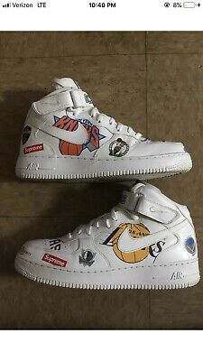 NIKE AIR FORCE 1 Mid Supreme White Style # AQ8017 100 Size 9