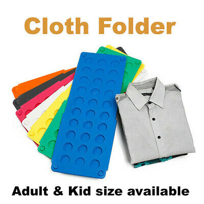 Clothes T Shirt Top Folder Magic Folding Board Flip Fold Laundry Organizer