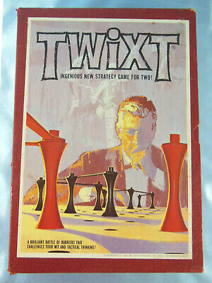 Complete Vintage 1962 TWIXT 3M Bookshelf Game - Ingenious Strategy Game