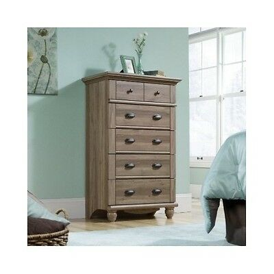 Dresser Drawers Chest 5 Drawer Bedroom Furniture Wood Salt Oak Dressers Antique