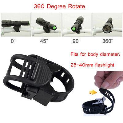 360 Degree Cycling Bike Mount Holder for LED Flashlight Torch Clip Bicycle Clamp