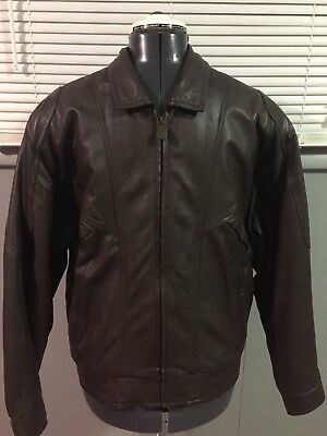 e6bec4fd2 VINTAGE 90S MENS Medium Full Zip Suede Leather Flight Bomber Jacket ...