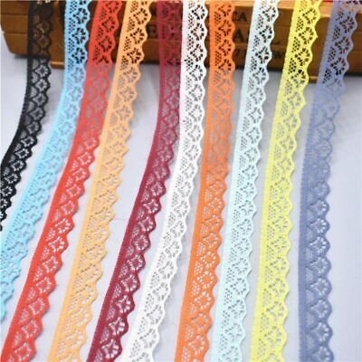 10 yards Lace Ribbon Tape Width 14MM Trim DIY Embroidered Sewing Wedding dress