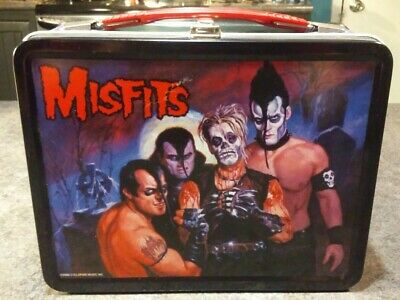Misfits Metal Lunchbox 2000 Cyclopian Music FAMOUS MONSTERS DISPLAYED CONDITION