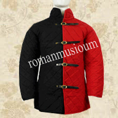 New Beautiful Red Black Gambeson Role Play Medieval Armor Movies Theater