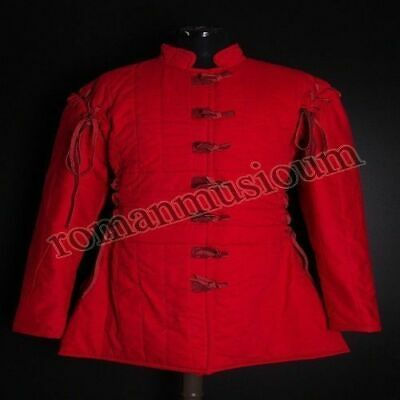 Beautiful Thick Padded Red Gambeson Medieval Armour Play Movies Costume