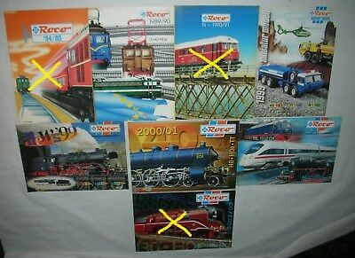 Roco Catalog (5) Of The Year 1989 To Year 2001 And Miniatur Modell, Good State.