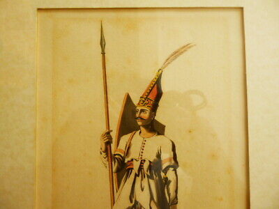 Antique 1812 Ottoman Turkish Janissary Military Engraving Islamic English Print