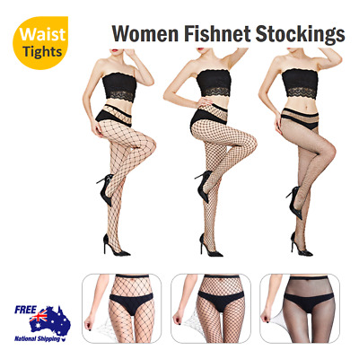 Women Fishnet Stockings Ladies Elastic Sexy Tights Waist Pantyhose Mesh New