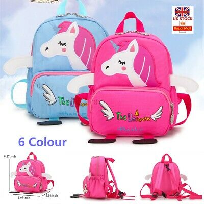 Cartoon Baby Toddler Kids Unicorn Safety Harness Strap Bag Backpack with Reins 1