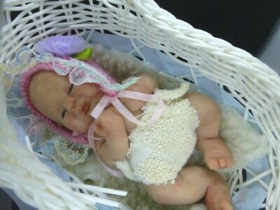 Polymer Clay baby handmade art doll, collectors, COA. OOAK, Meet Penny