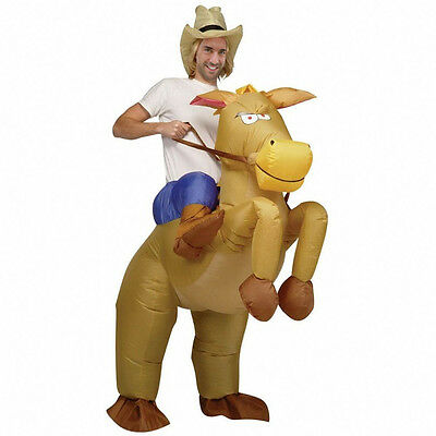 Western Cowboy Inflatable Costume Horse Donkey FancyDress Costume