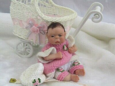 Polymer Clay baby handmade art doll, collectors, COA. OOAK, Meet Julie