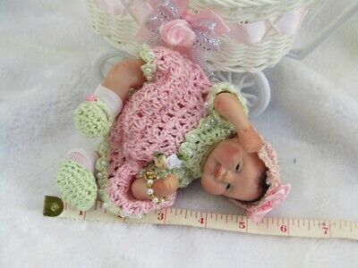 Polymer Clay baby handmade art doll, collectors, COA. OOAK, Meet Tilly