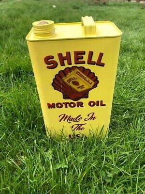 Shell Motor Oil Logo - Vintage Decorative Petrol Fuel Jerry Can