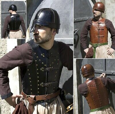 Soldiers Torso Armour with Brass Detailing for Re-enactment, Stage, Costume LARP