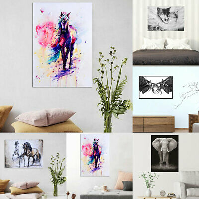 Stylish Animal Figure Abstract Wall Art Oil Painting Canvas Painted Poster Decor