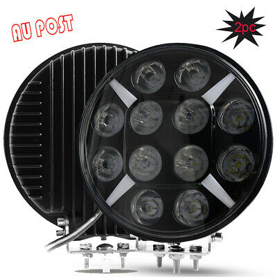2x 9 inch CREE LED Sport Beam Driving Lights Round DRL12V 24V Black Offroad 200W