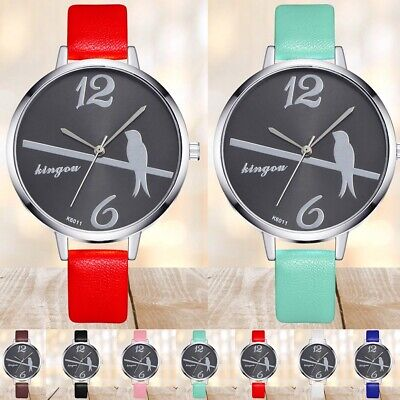 PU Leather Strap Women Casual Watch Analog Display Quartz Movement Wrist Watches