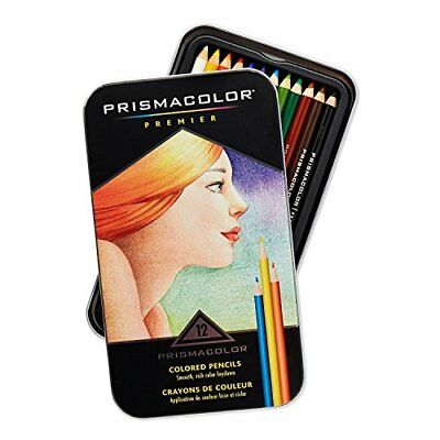 Prismacolor Premier Colored Woodcase Pencils, 12 Assorted Colors with Strathmore