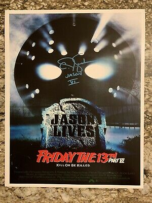 CJ GRAHAM Signed JASON Voorhees 11x14 Photo Friday the 13th Part 6 Movie Poster