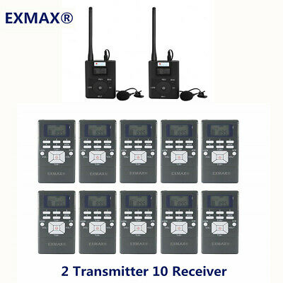 Wireless Tour Guide System for Guiding Meet 2*FM Transmitter+10*Radio Receiver