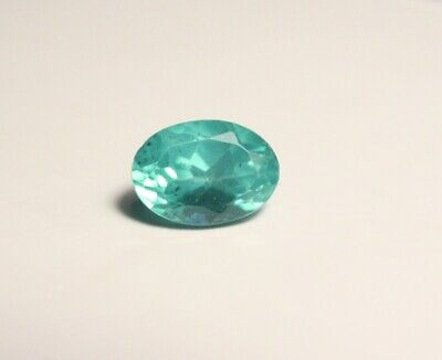 1.27ct Neon Teal Apatite - Clean Vibrant Custom Cut Oval Gemstone