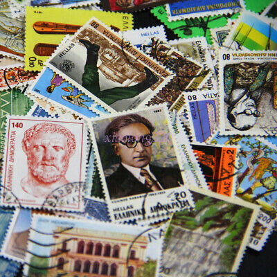 10Pcs Various Postage Stamp Valuable Collection All Over the World Souvenir Gift