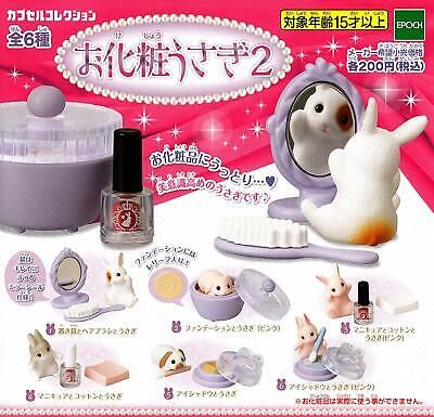 epoch makeup rabbit 2 Gashapon 6 set mini figure capsule toys