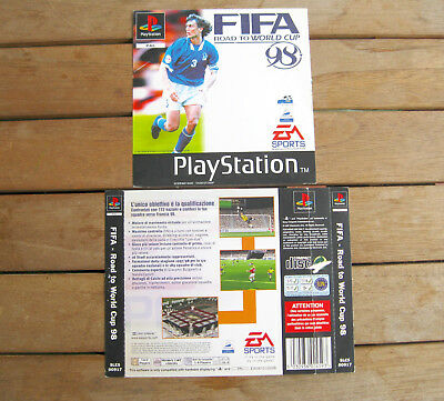 FIFA - Road to World Cup 98 (1997) PLAYSTATION 1 COVER ORIGINALE, NO DISCO #