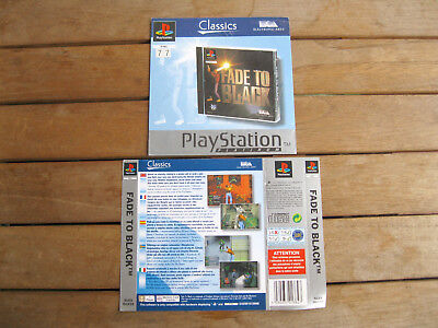 Fade To Black (1996) Playstation 1 Cover Originale, No Disco