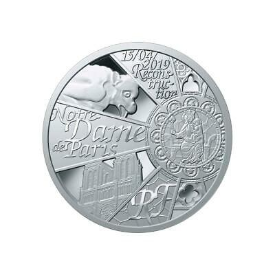FRANCE 10 Euro Argent BE 2019 Reconstruction de Notre Dame de Paris