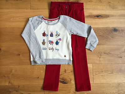 Girls Mini Boden Jeans Trousers Next Sweat Top Party Outfit Set Christmas 11-12