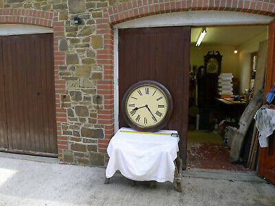 A Very Large Fusee Wall Clock For Restoration Or Project, Circa 1920?