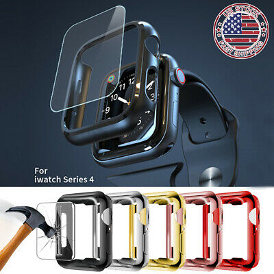 For Apple Watch Serie 4 44mm Bumper Hard Case Cover Screen Protector iWatch 40mm
