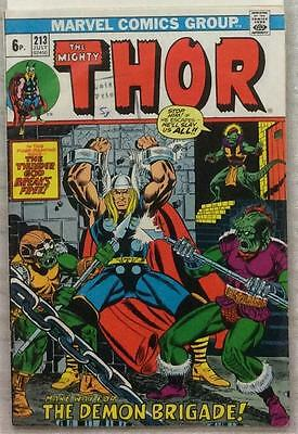 Thor #213 (1973 Marvel) 1st series FN+ condition.