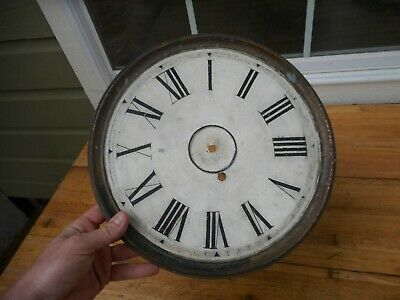 """Large 13"""" Brass Roman Numerals Grandfather Wall Clock Dial Face"""