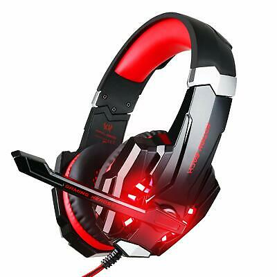 3.5mm Gaming Headset MIC LED Headphones G9000 for PC Laptop PS4 Slim Xbox One S