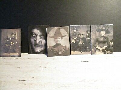 5 Dolls House Miniature Witches Posters Set B