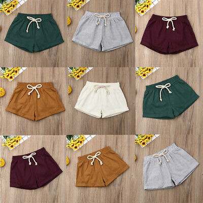 New Baby Infant Girls Boy Linen PP Pants Bloomers Soft Diaper Nappy Cover Shorts