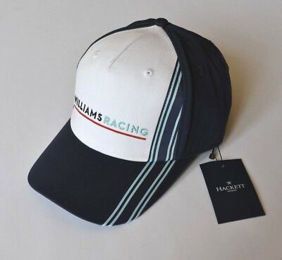 BNWT Williams Racing F1 Cap Strap Back Hackett London Navy White One Size Adults