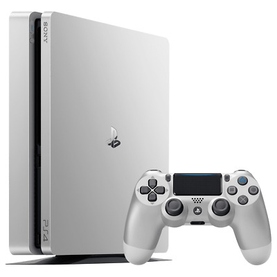 Sony PlayStation 4 PS4 Slim 500GB Silver Home Games Console PRE-OWNED