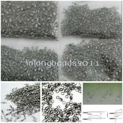 200pcs Rolling Swivels Strong Feeder Coarse Carp Fishing Tackle Snap Links RE