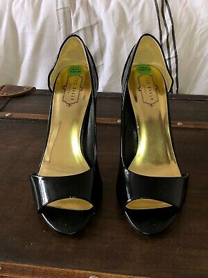 5ff532688be Ted Baker 6 Black Satin Peep Toe Bow Front Heels Smart Formal Wedding Goth  Retro. £16.00 9 Bids 16h 5m. See Details. Ted baker women s black leather  cut out ...